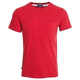 Superdry Ol Vintage Stickerei T-shirt Schock Feuer rot Grit
