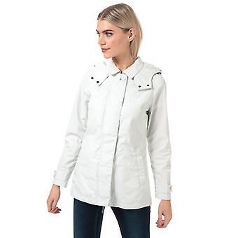 Women's Henri Lloyd Iconic Long Consort Oxford Jacket in White
