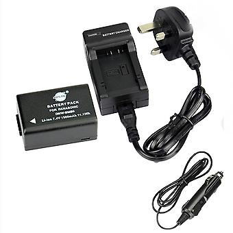 Dste® dmw-bmb9 rechargeable li-ion battery + dc108u travel and car charger adapter for panasonic lu