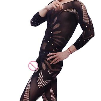 1 Piece Fishnet Kläder Män Jumpsuit Sexiga underkläder