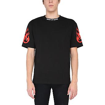 Vision Of Super Vosb1rockblack Men's Black Cotton T-shirt