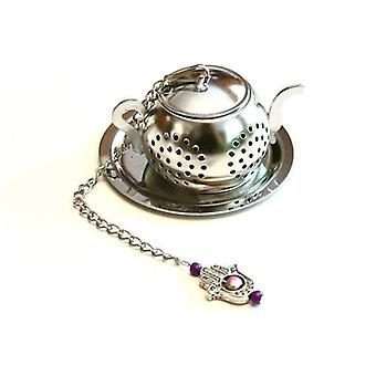 Infuser de thé avec le charme de main de Hamsa
