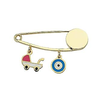 Baby Car Evil Oko Bead Gold Pin