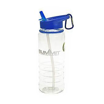 Garrafa de água Summit 700ml com palha dobrável - 1 garrafa azul unidade