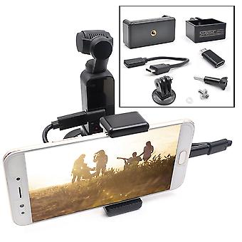 STARTRC ABS Handheld Mobile Phone Clip Holder Expansion Accessories with Android USB Data Cable for DJI OSMO Pocket