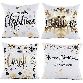 Fire jul snefnug udskrive firkantede pudebetræk