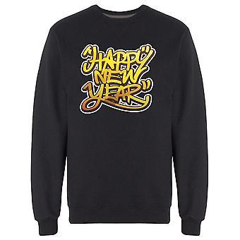 Cool Happy New Year Graffiti Sweatshirt Men's -Image by Shutterstock