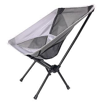 Silvergrey OxfordCloth Mesh SteelPipe Udendørs Ultralight bærbar klapstol