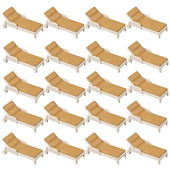 20 Pieces Beige&Brown 1:150 Decor Mini Chair Craft Environmental Models