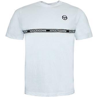 Sergio Tacchini Hombres Fosh Camiseta Gráfico Grabado Casual Blanco Top 38765 100