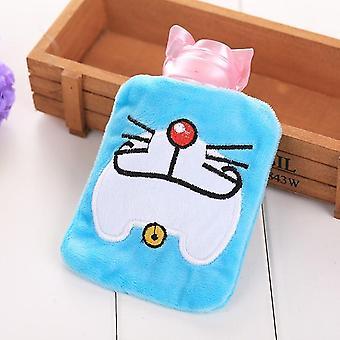 Cartoon Warm Hot Water Bottle Mini Portable Plush Washable Injection Safety