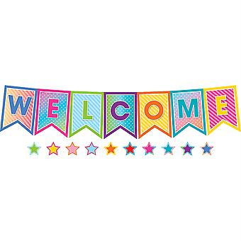 Colorido Vibes Pennants Welcome Bulletin Board Set