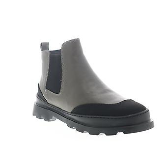 Camper Brutus  Mens Gray Leather Slip On Chelsea Boots
