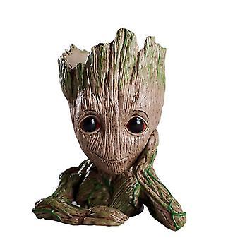 Baby Groot Flowerpot Planter Figurines Tree Man Cute Model Toy Pen Garden
