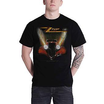 ZZ Top Mens T Shirt Black Eliminator Vintage Distressed band Official