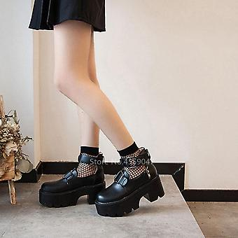 Japanese College Jk Uniform Pu Leather Waterproof Shoes