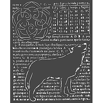 Stamperia Thick Stencil 20x25cm Wolf