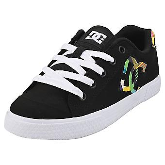 DC Shoes Chelsea Womens Fashion Trainers in Black Multicolour
