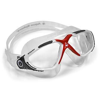 Aqua Sphere Vista Beyaz / Kırmızı Yüzme Gözlükleri- Clear Lens