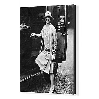 Coco Chanel. Boks lerret utskrift. Gabrielle (Coco) Chanel (1883 - 1971), ikonisk fransk mote.