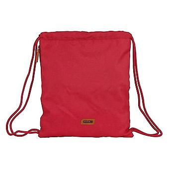 Backpack with strings safta maroon