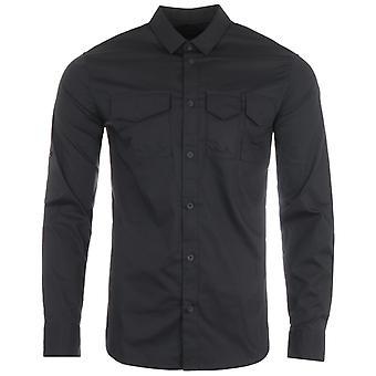 Armani Exchange Sustainable Pocket Shirt - Black