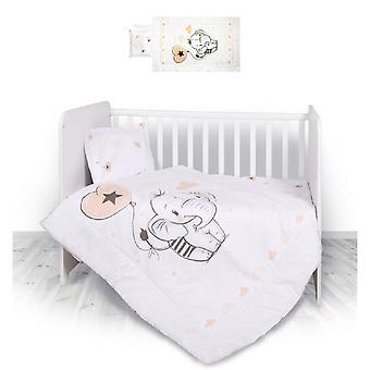 Lorelli baby sängkläder set elefant 3-Piece täcker täcker för kudde, filt
