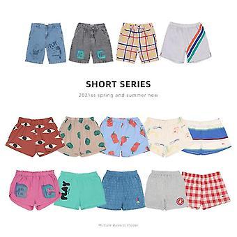 Spring/summer Sports Casual Shorts Printed Denim Pants