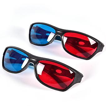 Rahmen rot blau 3D Gläser für Dimensional, Anaglyphe, Filmspiel, Dvd