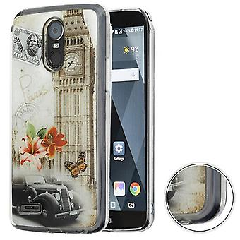 MYBAT Krystal Gel Candy Skin Cover for Stylo 3 Plus,MP450,TP450,LS777 (Stylo 3) - Big Ben (Transparent Clear)