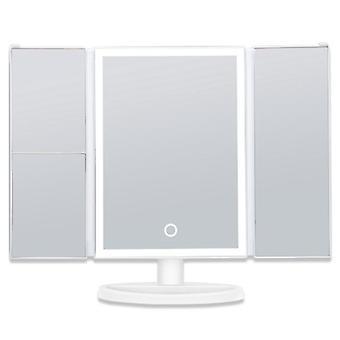 إضاءة مرآة الغرور مع 38leds، 1x 2x 3x التكبير، ومراقبة الاتصال، المحمولة مرآة ماكياج مستحضرات التجميل مضاءة
