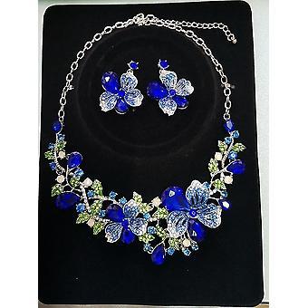 Fashion Crystal Rhinestones Necklace Earrings Set