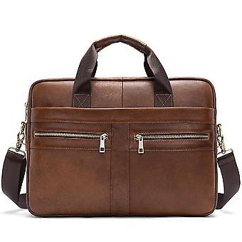 Men's Bag, Genuine Leather Men Briefcase For Laptop