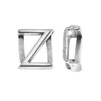 Final Sale - Antiqued Silver Plated Alphabet Spacer For Regaliz 10mm Flat Cork Cord - Z