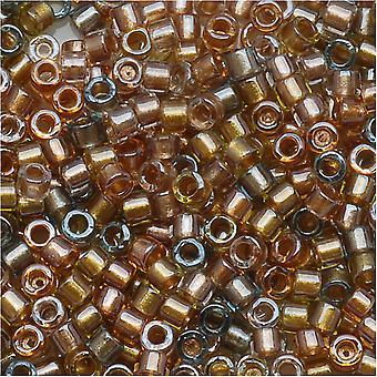 Miyuki Delica Beads Beads, Tamaño 11/0, 7.2 Gramos, Mezcla Metálica Forrada DB981