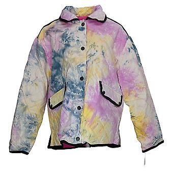 Avec Les Filles Women's Reversible Quilted Tie-Dye Jacket Pink A442223