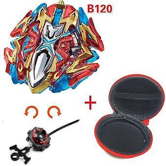 5 + Beyblade burst iskrzenie turbo b48 wyrzutnia, metalowy top żyroskop ostrze ostrze przędzenia zabawki walki