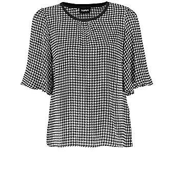 Taifun Bluse 1/2 Brazo Camiseta, Patrón Negro, 40 Mujer