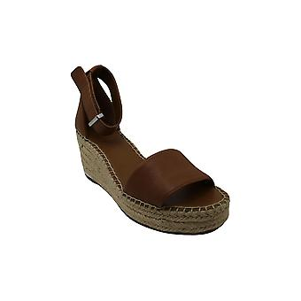 Franco Sarto Womens L-Clemens Leather Open Toe Casual Platform Sandals