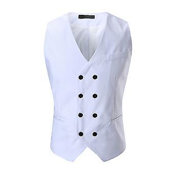 Allthemen Miesten muodollinen wear double breasted V-Neck Four Seasons Vest