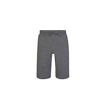 Emporio Armani Bomuld Trykt Logo Grå Shorts