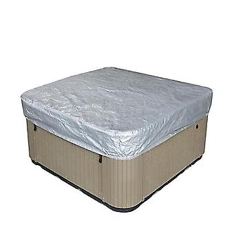 244*244*30Cm sliver waterproof polyester square hot tub cover outdoor spa covers square hot tub cover x50