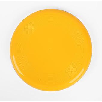 2ks 27cm žlté detské outdoorové športové hračky šetrné k životnému prostrediu plastové hry pre domáce zvieratá zahustené okrúhly lietajúci tanier az2824