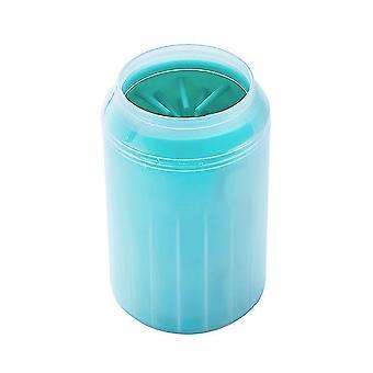 S 7.2 * 9.3 * 5.5cm grønn trygg kjæledyr fotbad myk silikon børste az3544
