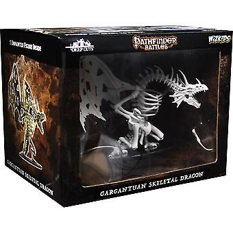 Pathfinder battles Deep Cuts Omålade miniatyrer (W11) Gigantisk skelettdrake