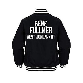 Sporting empire gene fullmer boxing legend jacket black/white
