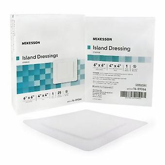 McKesson Adesivo Medicazione McKesson 6 X 6 Pollici Polipropilene / Rayon Quadrato Bianco Sterile, Bianco 25 Conte