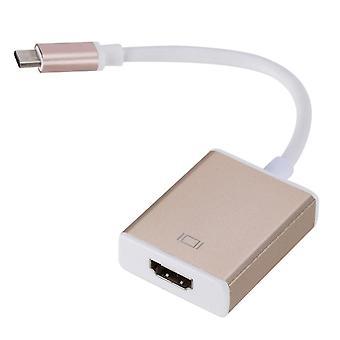 USB-C Digital AV Multiport Adapter Konverter (Gold)