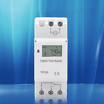 Panel Mounted Digital Lcd Programmable Timer Switch Thc 15a Dc 110v Ac 220v