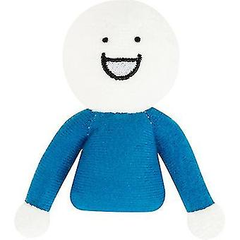 2pcs Little Man Toy Birthday Gift Plush Toy Doll Brooch